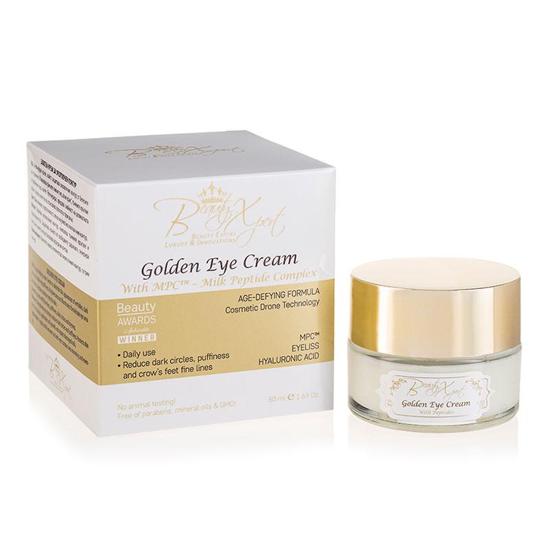 Златен крем за очи с пептиден комплекс, 50 мл